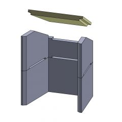 Heizgasumlenkplatte 367x290x30mm (Vermiculite)