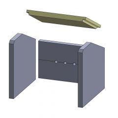 Heizgasumlenkplatte 325x246x25mm (Vermiculite)