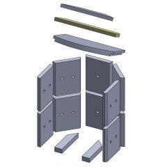 Heizgasumlenkplatte mitte 412x93x20mm (Vermiculite)
