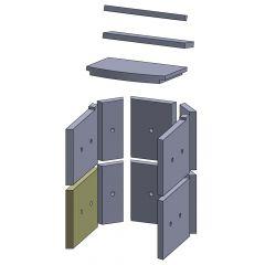 Wandstein vorne unten links/rechts 280x230x25mm (Vermiculite)