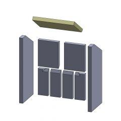 Heizgasumlenkplatte 355x227x30mm (Schamotte)