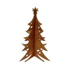 Weihnachtsdeko Trend für drinnen und draußen | 3D Tannenbaum | Edelrostoptik