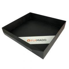 Aschekasten aus Stahlblech 260x230x40mm | Justus** | Flamado | Schamotte-Shop.de