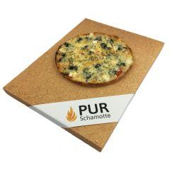 Pizzastein 400x300x25 | lebensmittelecht | PUR Schamotte | Schamotte-Shop.de