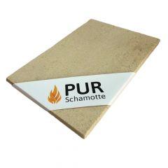 Schamotteplatte 320x290x15mm 2 Stück   PUR Schamotte   Schamotte-Shop.de