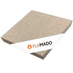 Vermiculite Platte 500 x 500 x 50 mm | Brandschutzplatte | Flamado | Schamotte-Shop.de