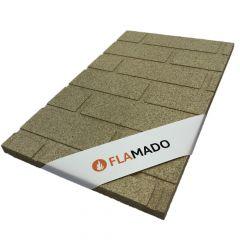 Vermiculite Platte Steinwand Optik  Brandschutzplatte   Flamado   Schamotte-Shop.de