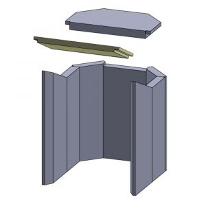Heizgasumlenkplatte 315x185x30mm (Vermiculite)