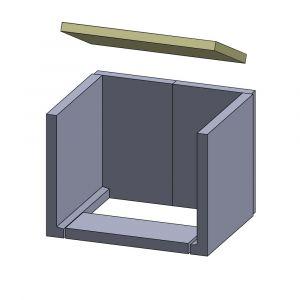 Heizgasumlenkplatte 445x260x25mm (Vermiculite)