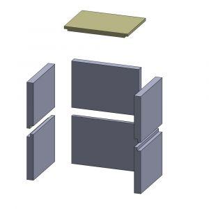 Heizgasumlenkplatte 380x290x25mm (Vermiculite)