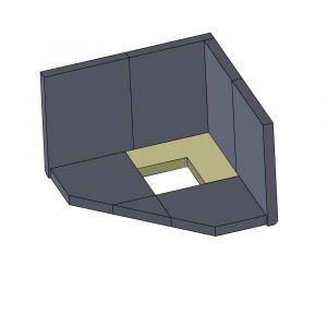 Bodenstein hinten 245x245x30mm (Schamotte)