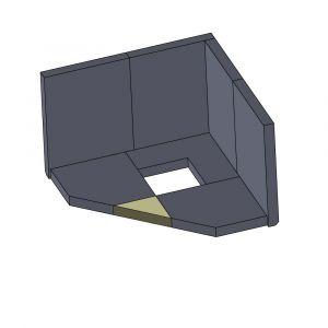 Bodenstein vorne 125x125x30mm (Schamotte)