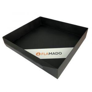 Aschekasten aus Stahlblech 349x285x65mm | Caminos Automat** | Flamado | Schamotte-Shop.de
