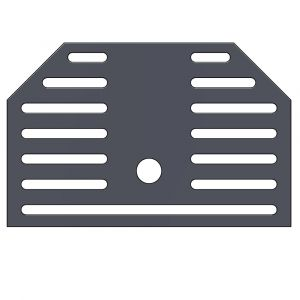 Kaminrost aus Stahl | Leda | Ascherost| Flamado | Schamotte-Shop.de