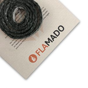 Dichtschnur flach 16x2mm / 3m selbstklebend | Gesamtansicht eingedreht | Flamado | Schamotte-Shop.de
