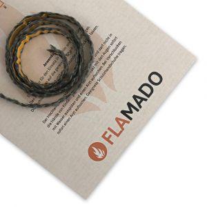 Dichtschnur flach 8x2mm / 3m selbstklebend | Gesamtansicht eingedreht | Flamado | Schamotte-Shop.de