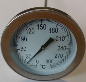 Edelstahl Thermometer - Bimetall  bis 300 °C