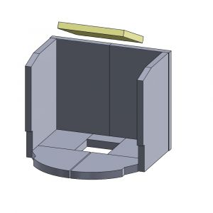 Heizgasumlenkplatte 270x230x25mm (Vermiculite)   Justus Viking C&D**   Vermiculite-Shop.de