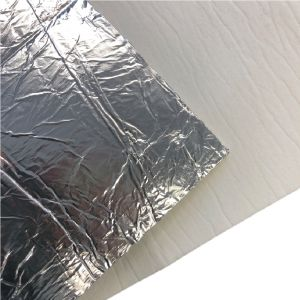 Hitzeschutz - Keramikfasermatte mit Alubeschichtung 1200x500x5mm | PUR Schamotte | Schamotte-Shop.de
