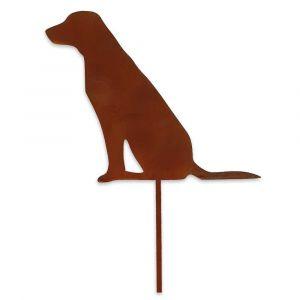 Gartenstecker Hund 52cm | Skandinavisches Design | Edelrostoptik
