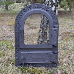Ofentür aus Gusseisen 33,0 x 49,5 cm schwarz