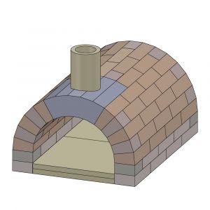 Pizzaofen Bausatz Toskana Basic | Vorderansicht | PUR Schamotte | Schamotte-Shop.de
