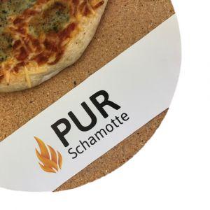 Pizzastein rund   lebensmittelecht   PUR Schamotte   Schamotte-Shop.de