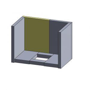 Rückwandstein links 330x250x25mm (Vermiculite) | Justus Viking B** | Vermiculite-Shop.de