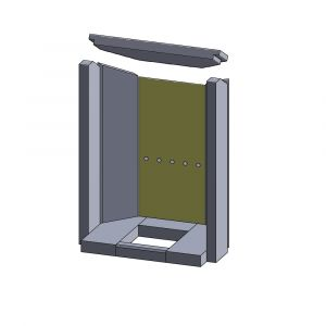 Rückwandstein 402x179x25mm (Vermiculite) | Justus Texel 5** | Schamotte-Shop.de
