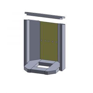 Rückwandstein 384x187x25mm (Vermiculite)