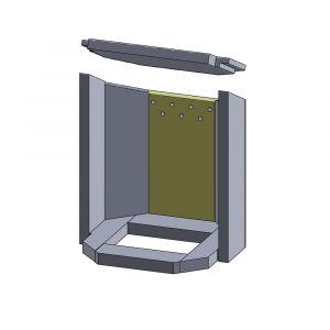 Rückwandstein 345x195x25mm (Vermiculite) | Justus Usedom 7** | Schamotte-Shop.de
