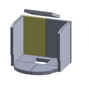 Rückwandstein links 400x245x25mm (Vermiculite) | Justus Viking C** | Vermiculite-Shop.de