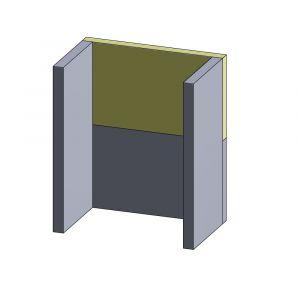 Rückwandstein oben 410x240x30mm (Vermiculite) | Haas und Sohn Ascoli** | Schamotte-Shop.de
