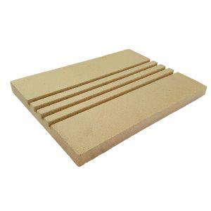 Rillenplatte 4 Rillen (Schamotte) 400x300x30mm