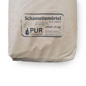 Schamottemörtel keramisch 25kg Sack | PUR Schamotte | Schamotte-Shop.de