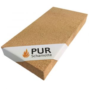 Schamotteplatte 400x200x50mm | PUR Schamotte | Schamotte-Shop.de