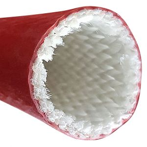 Silikonbeschichtete Fiberglas-Hülse 12,7mm / 1m