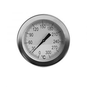 Edelstahl Thermometer für Pizzaofen | PUR Schamotte | Schamotte-Shop.de