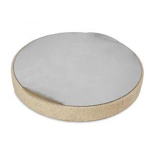 Pizzastein Ø 26 x 3 cm mit Edelstahlblech passend für Weber** Kugelgrills