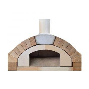 Pizzaofen Bausatz Merano Basic XXL | Frontansicht | PUR Schamotte | Schamotte-Shop.de