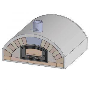 Pizzaofen Bausatz Merano Premium | Frontansicht | PUR Schamotte | Schamotte-Shop.de