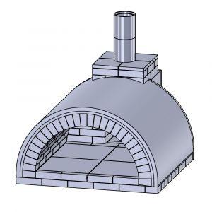 Pizzaofen Bausatz Bologna | Gartenbackofen | PUR Schamotte | Schamotte-Shop.de