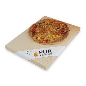 Pizzastein 400 x 300 x 25 mm | 4 Stück | lebensmittelecht | PUR Schamotte | Schamotte-Shop.de