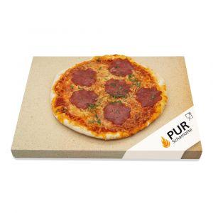 Pizzastein 40 x 30 x 2,5 cm | 2 Stück | lebensmittelecht | PUR Schamotte | Schamotte-Shop.de