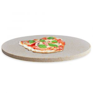 Profi Pizzastein rund Ø 340x30mm aus Cordierit | lebensmittelecht | Schamotte-Shop.de