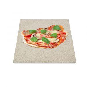 Profi Pizzastein 30 x 30 x 1,5 cm | lebensmittelecht | PUR Schamotte | Schamotte-Shop.de