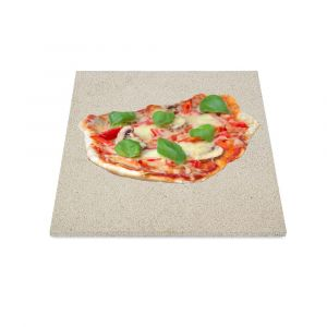 Profi Pizzastein 300x300x30mm aus Cordierit | lebensmittelecht | Schamotte-Shop.de