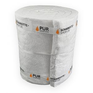 Hochtemperatur Isolierung 25mm | keramische Faserisolierung 1400 Grad | 96kg/m3 | PUR Schamotte | Schamotte-Shop.de