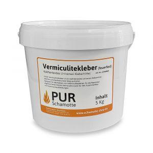 Vermiculitekleber 5kg| PUR Schamotte | Schamotte-Shop.de