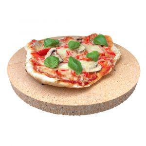 Pizzastein Brotbackstein rund | 340 x 30 mm | lebensmittelecht | PUR Schamotte | Schamotte-Shop.de